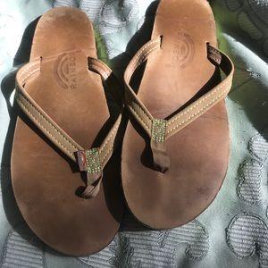 Tan leather Rainbow sandals sz7 / 8